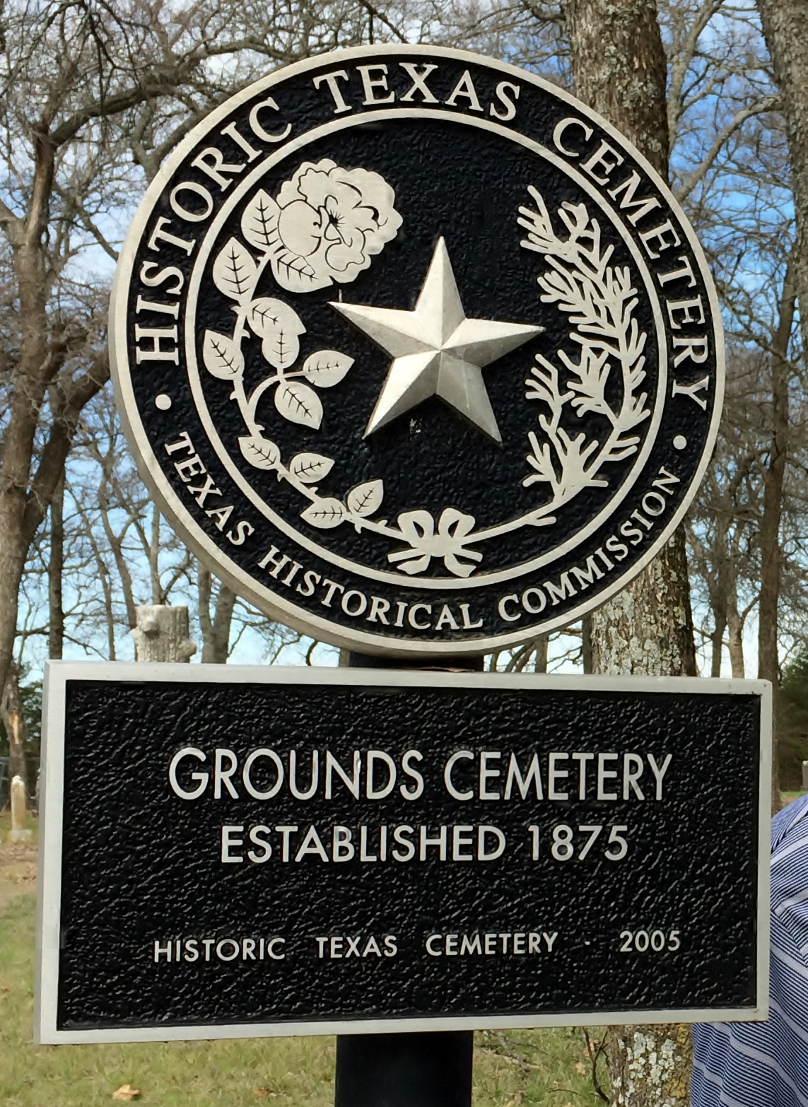 Collin county backtracking the common he moved with his grounds cemetery historical sign in collin county aiddatafo Gallery