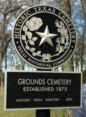 Grounds Cemetery Historical Sign in Collin County