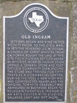 Ingram historical marker