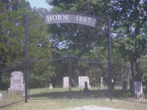 1867 Horn Family Cemetery Gate