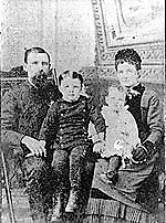 John W. Vann with his wife Blanche and children William and Amy