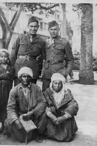 Burton Lee Roberts in North Africa in 1943 (Standing back row right)