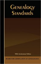 Genealogical Standards book cover