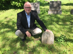 Gary Roberts visits the grave of his 3 x great-grandmother again April 21, 2016