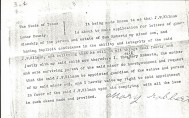 Letter of Consent signed by Mary Roberts in Septmeber of 1901