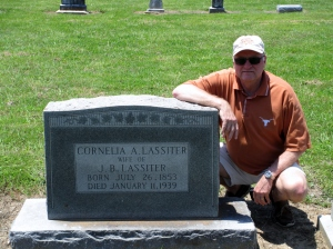 Gary Roberts visits the gravesite of Cornelia Ann Roberts Lassiter the first time in 2012