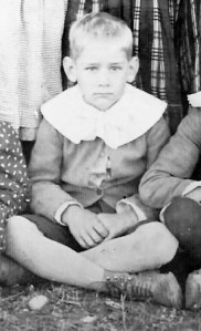 Gus Roberts as a child in about 1905 or 1906