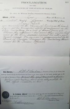 1905 Pardon granted to Mary Roberts