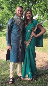 Jared and Elizabeth in Indian dress